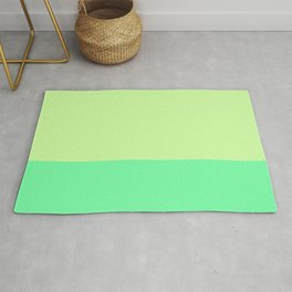 Lime Pistachio Color Block Rug