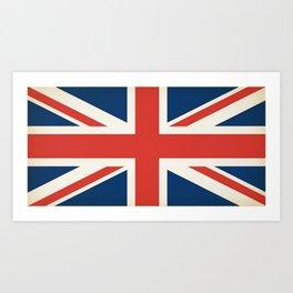 Union Jack UK Flag Art Print