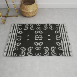 BW Shibori Bloom Rug