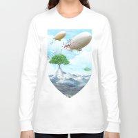ballon Long Sleeve T-shirts featuring Ballon Skyline by The Film Guy