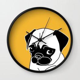Pug Please Wall Clock