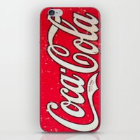 coke iPhone & iPod Skins featuring Coke by R&R.