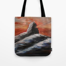 Black Tusk Tote Bag