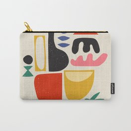 Mid Century Summer Abstraction Illustration Carry-All Pouch