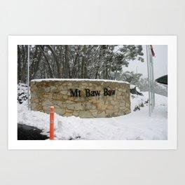Mt. Baw Baw Summit Art Print