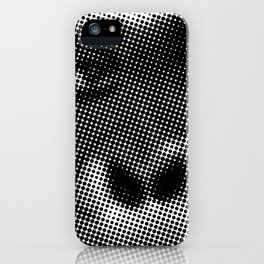 Halftone Gorilla face in Black and White  iPhone Case