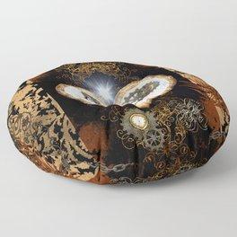 Steampunk, beautiful heart Floor Pillow