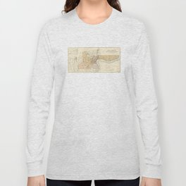 Vintage Map of Shanghai China (1918) Long Sleeve T-shirt