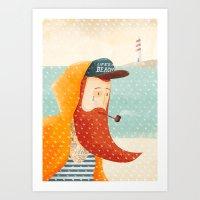 beach Art Prints featuring Beach by Seaside Spirit