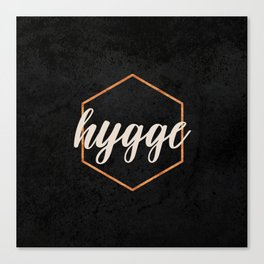 HYGGE - Black and Gold hexagon Canvas Print