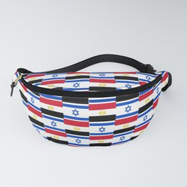 Mix of flag : Israel and Egypt Fanny Pack