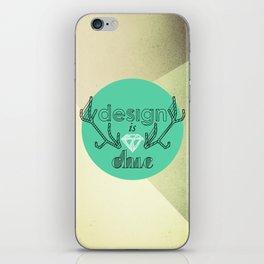 design is chic iPhone Skin
