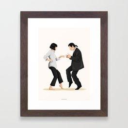 Pulp Fiction Twist Dance Framed Art Print