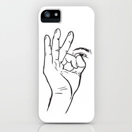 In hoc signo vinces (con este signo venceras) Rosca iPhone Case