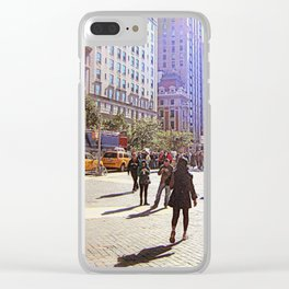 Sunny day in front of Metropolitan museum Clear iPhone Case