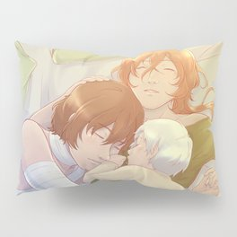 A crowded bed. [Bungou Stray Dogs fanart] Pillow Sham