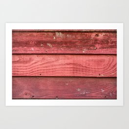 Red rusty wooden background Art Print