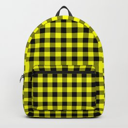 Classic Yellow Country Cottage Summer Buffalo Plaid Backpack