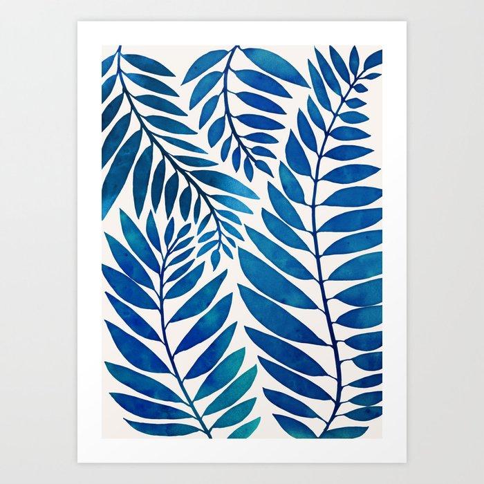 Tropical Blues Art Print