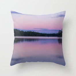 Sunset on Little Loon Throw Pillow