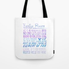 our family rules  Tote Bag