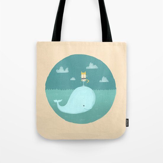 The Cat and the Whale Tote Bag