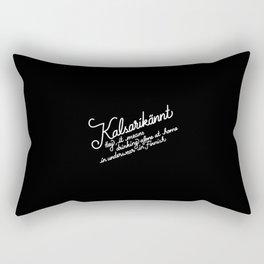 Kalsarikännt   [black & white] Rectangular Pillow