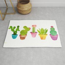 Cactus Plants In Pretty Pots Rug