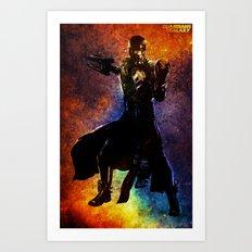 Guardians of the Galaxy series: Star-Lord Art Print