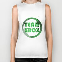 xbox Biker Tanks featuring Team XBox by Bradley Bailey