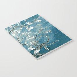Vincent Van Gogh Almond Blossoms Teal Notebook