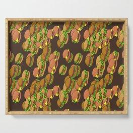 Hamburger Serving Tray