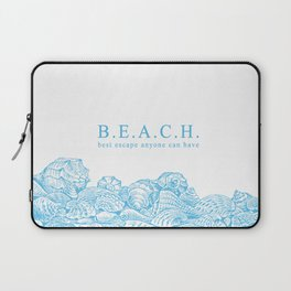 BEACH- Best escape anyone can have - Mix & Match with Simplicity of Life Laptop Sleeve