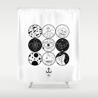 circles Shower Curtains featuring Circles by LSjoberg