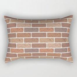 Red brick wall Rectangular Pillow