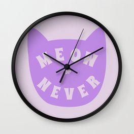 Meow or never Wall Clock
