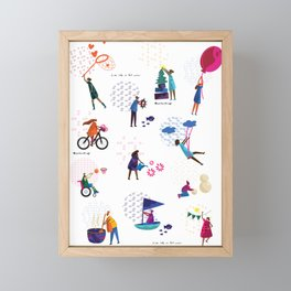 colorHIVE characters Framed Mini Art Print