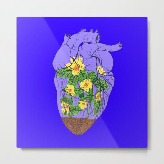 Heart Terrarium Metal Print