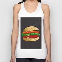 burger Tank Tops featuring Burger by YusufSangdes