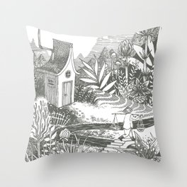 Little House Throw Pillow