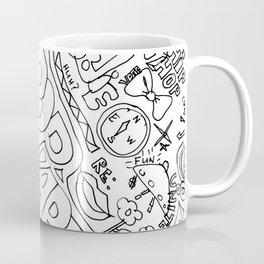 Graffiti: Black And White Coffee Mug