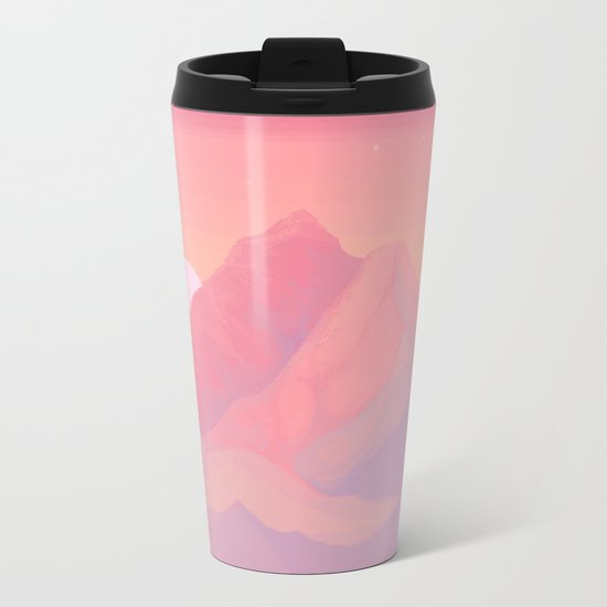 Peach Haze Metal Travel Mug