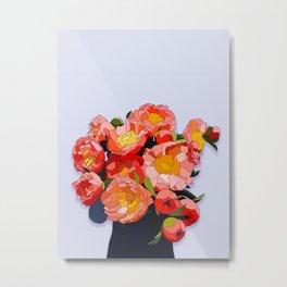 Peony Blooms Metal Print