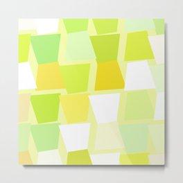 Tiptoe Through the Trapezoids Geometric Abstract Metal Print