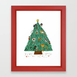 A messy Holiday Framed Art Print