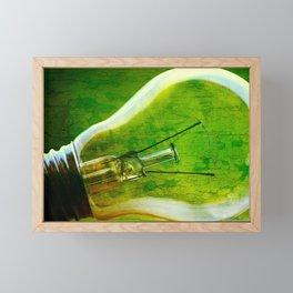 light bulb - think green Framed Mini Art Print