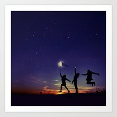 Friendship is the greatest adventure of all Art Print