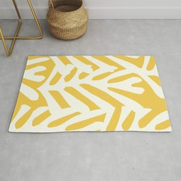 Coral in yellow Rug
