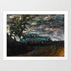 Pikes Peak (oil on canvas) Art Print