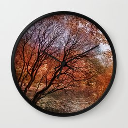 Mad colors of Autumn Wall Clock